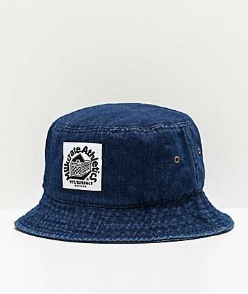 Milkcrate Raw Dark Blue Denim Bucket Hat