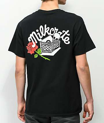 Milkcrate Rose Black T-Shirt