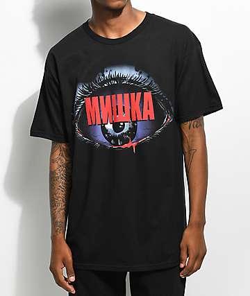 Mishka Lamour Biohazard camiseta negra