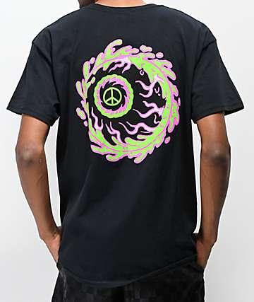 Mishka Peaceful Eye Black T-Shirt