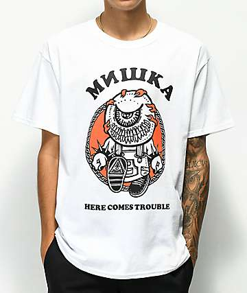 Mishka Trouble White T-Shirt