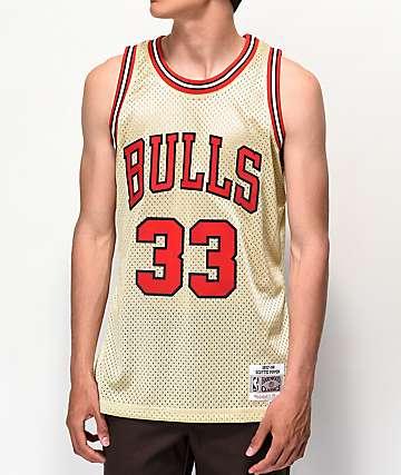 Mitchell & Ness Bulls Pippen Gold Jersey