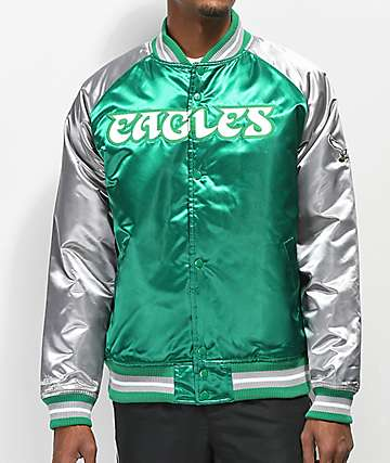 Mitchell & Ness Eagles Green Varsity Jacket