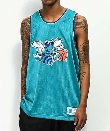Mitchell & Ness Hornets Mesh Basketball Jersey