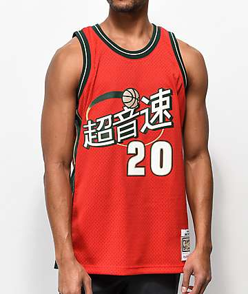 Mitchell & Ness Payton Sonics Chinese New Year Basketball Jersey