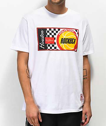 Mitchell & Ness Rockets Checker White T-Shirt