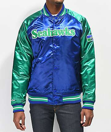 Mitchell & Ness Seahawks Blue Varsity Jacket