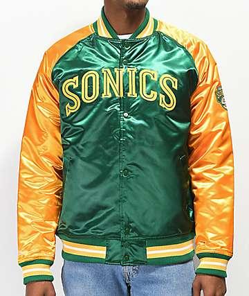 Mitchell & Ness Sonics Green Varsity Jacket