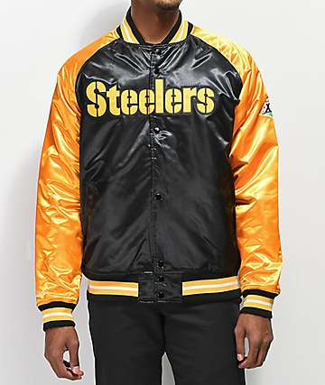 Mitchell & Ness Steelers Black Varsity Jacket