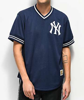 Mitchell & Ness Yankees Navy Mesh Jersey