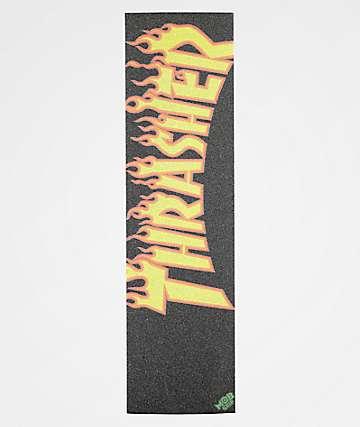 Mob x Thrasher Flame Logo Orange & Black Grip Tape