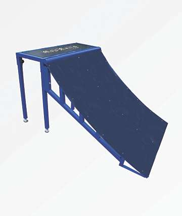 Mojo Rails Mini Blue Quarter Pipe