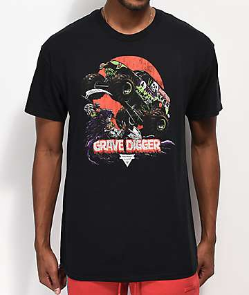 Monster Jam Grave Digger Black T-Shirt