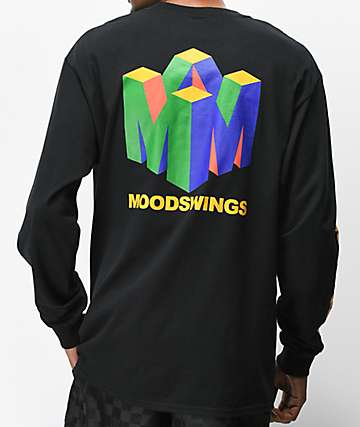 Moodswings 96 Black Long Sleeve T-Shirt