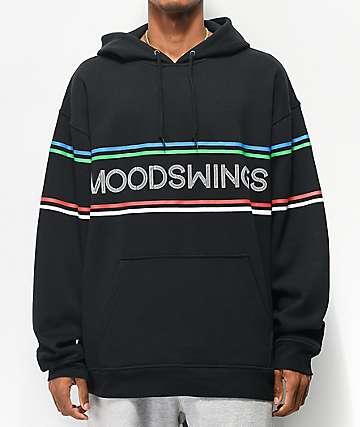 Moodswings Between The Lines Black Hoodie