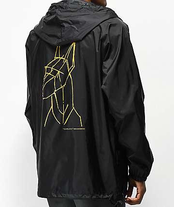 Moodswings Beware Black Anorak Jacket