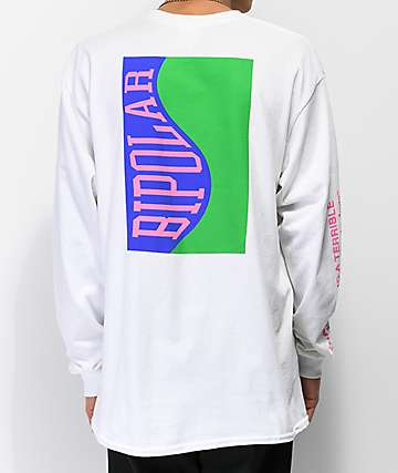 Moodswings Bipolar White Long Sleeve T-Shirt