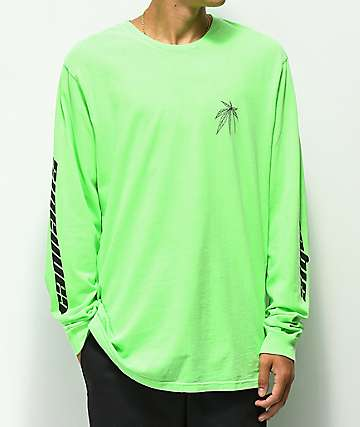 Moodswings Cannabis camiseta verde de manga larga