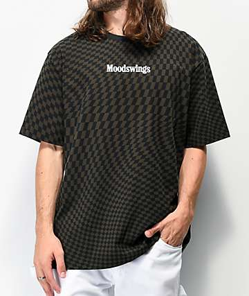 Moodswings Chess Black Checkered T-Shirt