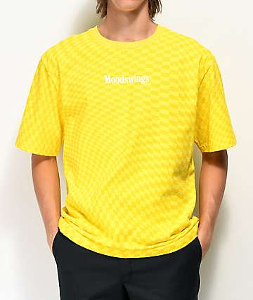 Moodswings Chess Checkered Yellow T-Shirt