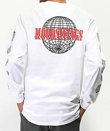 Moodswings Climate Change White Long Sleeve T-Shirt