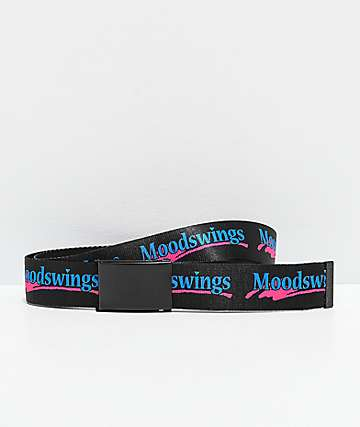 Moodswings Logo Black Web Belt