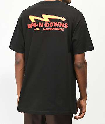 Moodswings Ups N Downs Black T-Shirt