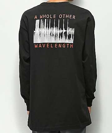 Moodswings Wavelength Black Long Sleeve T-Shirt