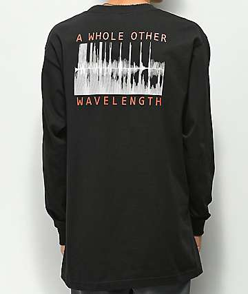 Moodswings Wavelength Black Long Sleeve T-Shirt