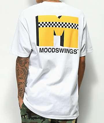 Moodswings Yellow Cab Checkerboard camiseta blanca