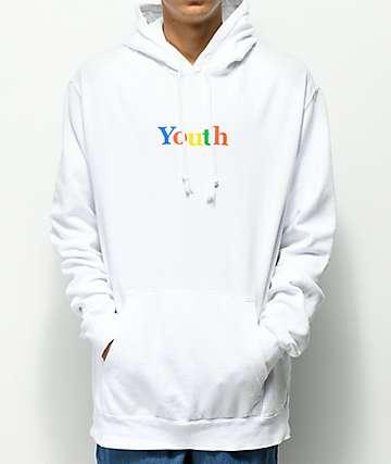 Moodswings Youth White Hoodie