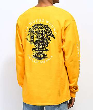 N°Hours All Hours camiseta dorada de manga larga