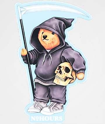 N°Hours Bear Hoodie Sticker