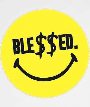 N°Hours Ble$$ed Smile Face Sticker