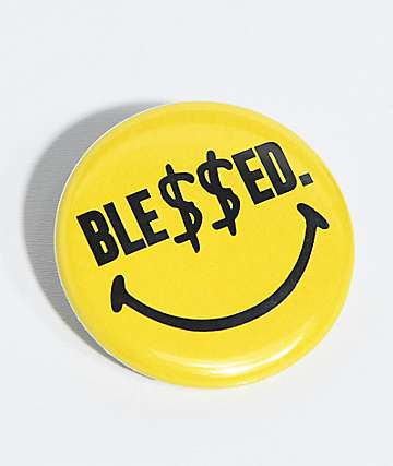 N°Hours Ble$$ed Smile Face Yellow Button