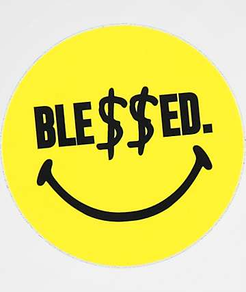 N°Hours Ble$$ed Smiley Sticker