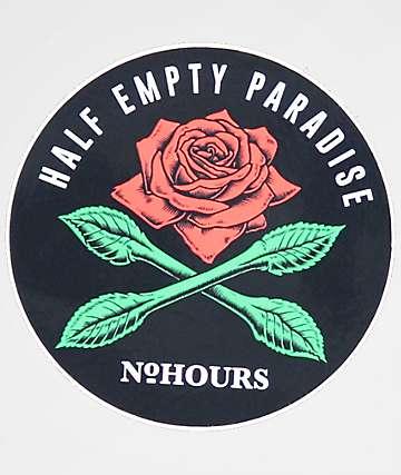 N°Hours Half Empty Paradise pegatina
