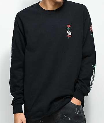 N°Hours Long Stem camiseta negra de manga larga