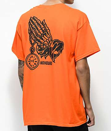 N°Hours Pray camiseta naranja