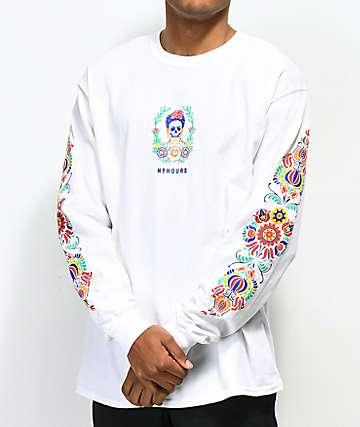 N°Hours Sleep camiseta blanca de manga larga