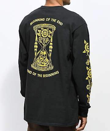 N°Hours The End camiseta negra de manga larga