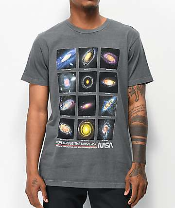 NASA Exploring Black Washed T-Shirt