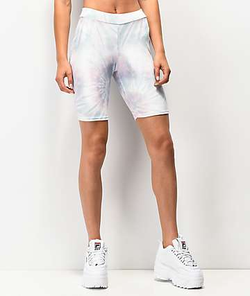 NEW girl ORDER Velvet Tie Dye Bike Shorts