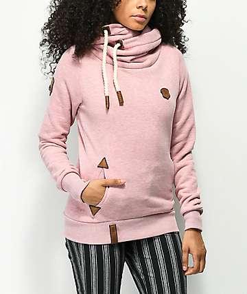 Naketano Darth sudadera con capucha rosa
