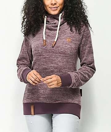 Naketano Kanisterkopf IV Purple Melange Hoodie