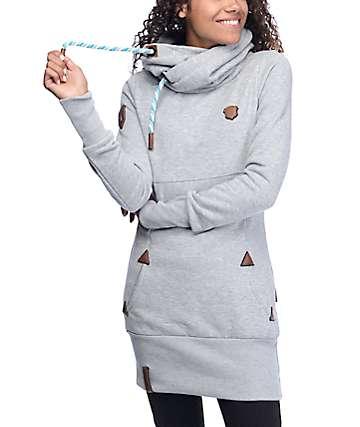 Naketano Lange IX Long Grey Hoodie