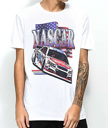 Nascar Star Spangled White T-Shirt