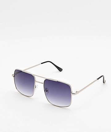 Navigator Shiny Silver Sunglasses