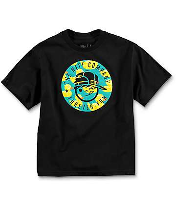 Neff  Boys Company Kids Black T-Shirt