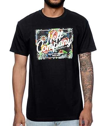 Neff Astro camiseta negra floral